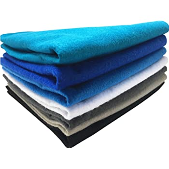 Misscrafts 42pcs Soild Felt Nonwoven Fabric Sheet 1mm Thick Pack DIY Craft Patchwork Sewing Squares Assorted Colors