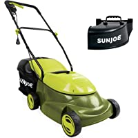 Sun Joe MJ401E-PRO 14 inch 13 Amp Electric Lawn Mower with Side Discharge Chute (Green)