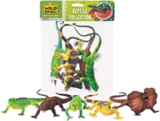 Wild Republic Reptile Polybag, Lizard Toy, Educational Toys, Kids Gifts, 5-Pieces
