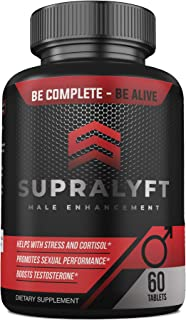 Supralyft Male Enhancement: Clinically Proven Testosterone Booster, Stress and Cortisol Reducer, Promotes Sexual Performance - Tongkat Ali, L-Arginine, Maca, Tribulus Terrestris - 30 Days
