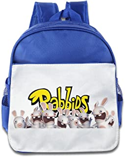 XJBD Custom Cute Rabbids Invasion Teenager School Bagpack Bag For 1-6 Years Old RoyalBlue