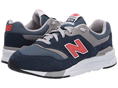 New Balance Kids 997H Essentials (Little Kid) (Natural Indigo/Neo Flame) Boys Shoes