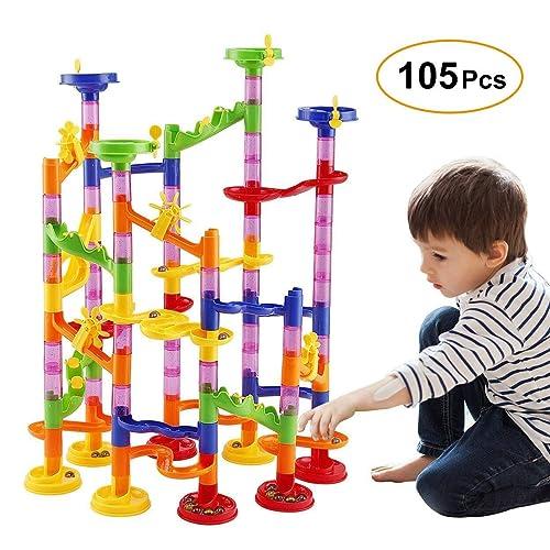 70624ddb833 WloveTravel Marble Run Railway Toy DIY Building Blocks Marble Runs Coaster  Railway Construction Marble Game for