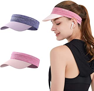 2 Pieces Hat for Women Men Golf Sun Visor Cap Quick Dry Hat Sports Tennis Hat- Womens Lightweight Tie Dye Visor