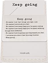 QUINNLYN & CO. Engraved Keep Going Wallet Card, Birthday Gifts for Special Someone, Gifts for Men with Inspirational Message