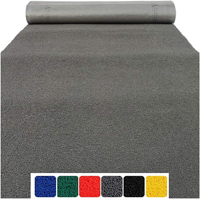 DD DD Floor Mats For Home Plastic Red Carpet Party Decorations PVC Plastic Spinning Non Slip Waterproof For Corridor Kitchen Passage Red Grey 1m2m3m4m5m Color Black Size 120x100cm
