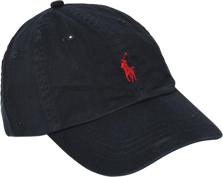 Polo Ralph Lauren Hat, Classic Polo Player Baseball Cap Black ONE SIZE