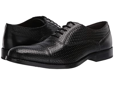 Steve Madden Mantel Oxford (Black Leather) Men