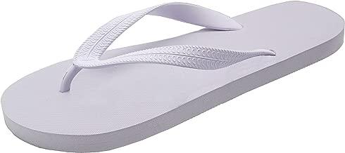 Feisco Women Rubber Flip Flops Thong Sandal Beach Slipper