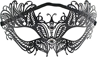Rhinestone Metal Masquerade Mask for Women,Girls,Ladies