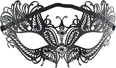 leomoste Sexy Half Face Mask Mysterious Dancing Eyemask Fancy Dress for Party Halloween Carnival