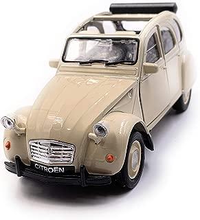 Onlineworld2013 Citroën 2CV Modelo en Beige descapotable Abierto Escala 1:34 (con Licencia)