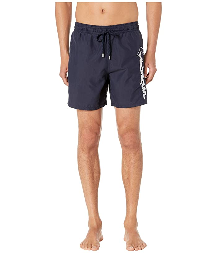 Vilebrequin Motu Le Broderie Swim Trunks (Navy) Men