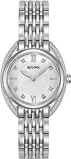 Bulova - Reloj analógico para Mujer de Cuarzo con Correa en Acero Inoxidable 96R212
