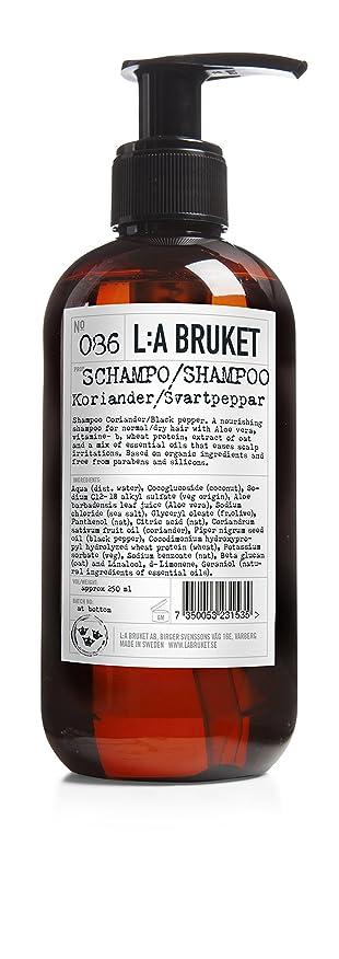スリンクニュースシャワーL:a Bruket (ラ ブルケット) シャンプー (コリアンダー?ブラックペッパー) 250ml