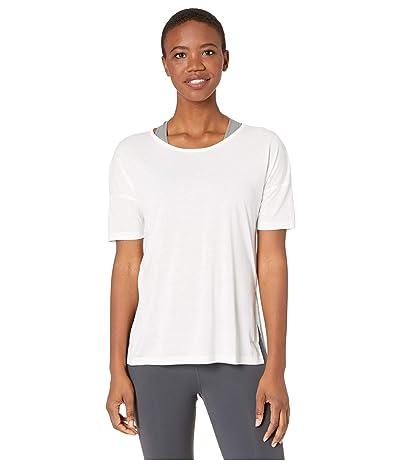 Nike Yoga Layer Short Sleeve Top (Summit White/Platinum Tint) Women