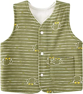 pureborn Baby Warm Sleeveless Jacket Cotton Vest Fall Winter Children Waistcoat 0-3 Years
