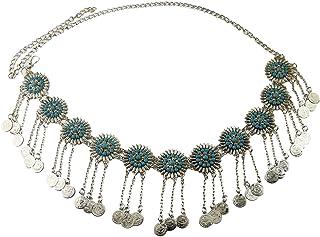 SHEKHAWAT Belt Belly Chain Sunflower Coin Gypsy Festival Tribal Body Jewellery Tassel