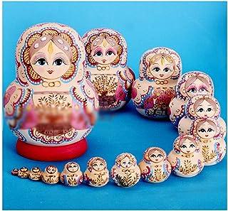Nesting dolls تداخل دمية سحر رائعة 15 قطعة/المجموعة الاطفال لعب فتاة خشبية رسمت باليد التعشيش دمى لغز التعشيش دمية مجوهرات