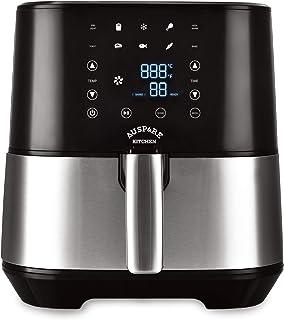 Auspure Kitchen Premium Digital Air Fryer XXL 5.5L 1.8Kg Capacity, Stainless Steel, Touchscreen with 10 Presets (Unique 10...