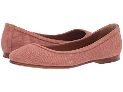 Frye Carson Ballet (Rosewood Cubed Suede) Women