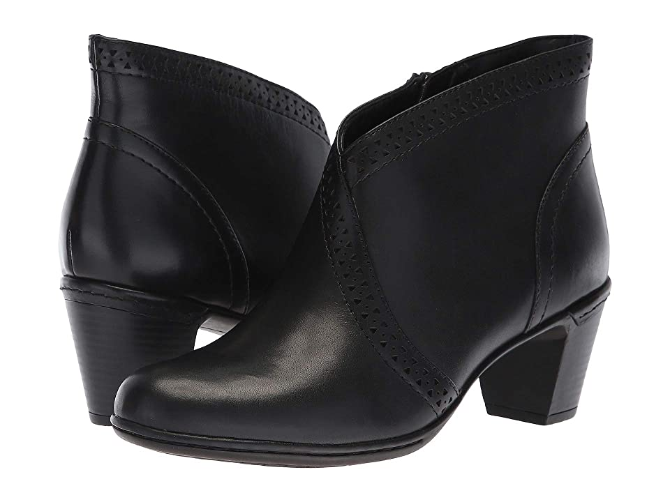 Rockport Cobb Hill Collection Cobb Hill Rashel V Cut Boot (Black Leather) Women