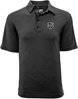 Levelwear LEY9R NHL Los Angeles Kings Men's Barton Icon Heather Polo T-Shirt, Large, Charcoal