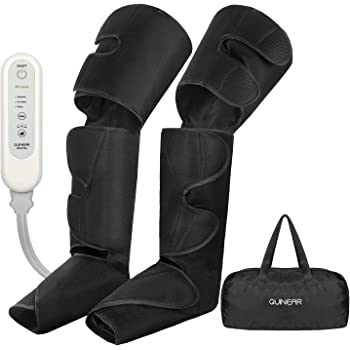 QUINEAR Leg Massager for Circulation, Foot Calf & Thigh Wraps Massage Helpful for Muscles Relaxation and Pain Relief - 3 Modes & 3 Intensities Include 2 Extensions