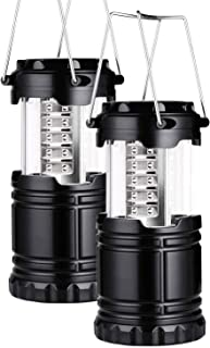 Portable LED Camping Lantern Outdoor 30 LEDs Flashlights Water Resistant Lamp Battery Powered Light for Home Garden Hiking...