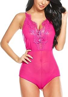 Women Lingeries One Piece Teddy Halter Babydoll Lace Sleepwear Mesh Nightwear Outfit