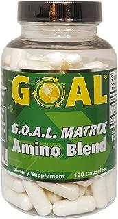 GOAL - G.O.A.L. Matrix Amino Acids Complex | 120 Capsules (L-Glycine L-Ornithine L-Arginine L-Lysine Blend)
