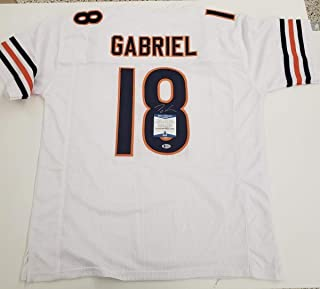 af69a2e4 Taylor Gabriel Autographed Signed Chicago Bears Jersey with COA Beckett  Authentic K48799