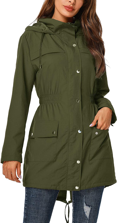 UUANG Rain Jacket Women Waterproof Hood Ac Outdoor with sale 5% OFF Raincoat
