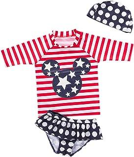 Styles I Love Kid Girls Chic Rash Guard Swimsuit Pool Party Swimwear Beach Bathing Suit
