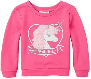The Children's Place Baby Girls' Graphic Fleece Pop Over Sweater
