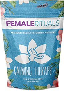 Female Rituals Calming Therapy (2 Ounce) Yoni Steaming Herbs Natural V Steam Organic Yoni Steam