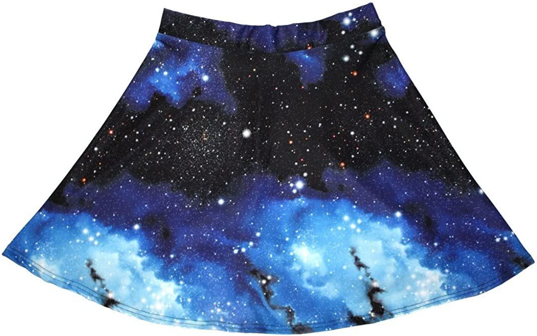 Insanity Womens Galaxy Planets Cosmos Space Skirt Skater Print Ranking TOP18 Now free shipping