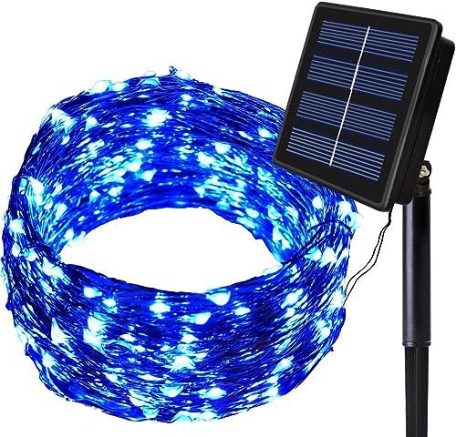 Solarmks Solar Lights - Outdoor Solar Christmas Lights 150 LED Fairy Lights Waterproof Solar String Lights Outdoor Li...