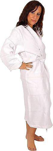 Linandelle Peignoir Femme Blanc nid d'éponge
