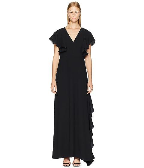 ML Monique Lhuillier Crepe Gown