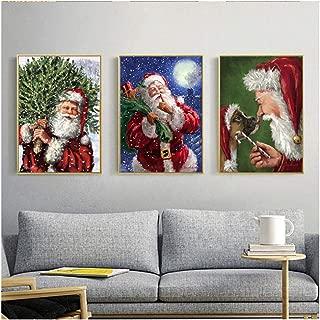 ZMFBHFBH Cuadro de Navidad Lienzo Pintura Decoración para el hogar Arte Moderno de la Pared Impresión y Carteles Papá Noel para la Sala de Estar -40x50cm Sin Marco