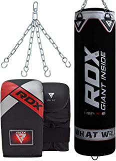 comprar comparacion RDX Saco de Boxeo Relleno MMA Muay Thai Kick Boxing Artes Marciales con Guantes Cadena Entrenamiento 4FT 5FT Punching Bag