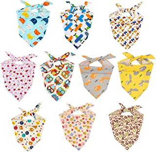 MEWTOGO Dog Bandanas - Washable and Reversible Triangle Cotton Dog Bibs Scarf Assortment Suitable for Puppy Small and Medium Pet