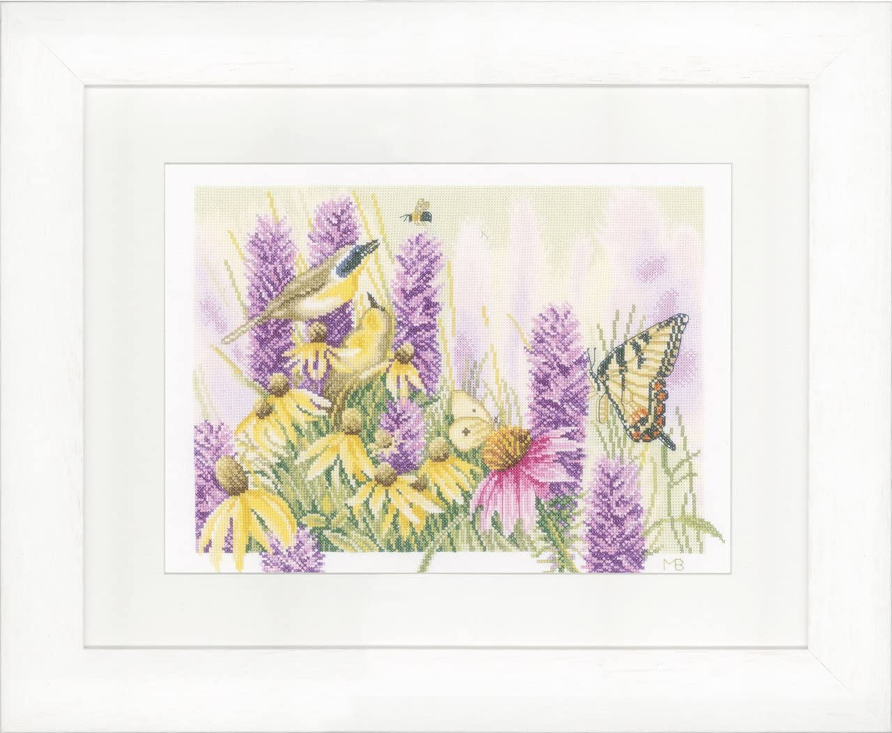 Counted Cross Stitch Kit: Large-scale sale Butterfly Bush Aida Echinacea and Some reservation