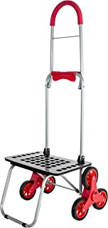 dbest products Stair Climber Bigger Mighty Max Personal Dolly Cart, Red Handtruck Cart Hardware Garden Utilty