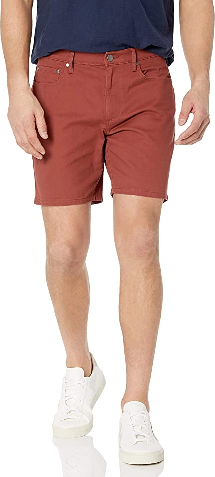 Amazon Essentials Men's Slim-fit 7 Inseam Stretch 5-Pocket Short