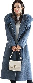 Fanru 梵如 女式 毛呢外套女秋冬季新款毛呢大衣女韩版百搭风衣女中长款呢大衣 F060-70958A