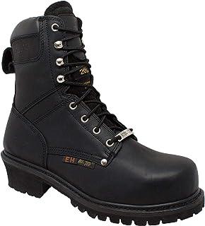 """حذاء عمل AdTec رجالي 9491 9"""" مصنوع من الصلب مقاس كبير باللون الأسود"""