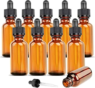 Orifice Reducers aromaterapia laboratori chimici Suneast Confezione da 40 flaconi vuoti in vetro ambrato per oli essenziali 1ml profumi