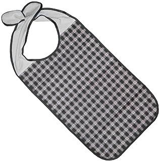 Kleidungsschutz/Ess-Schürze/Lätzchen für Erwachsene mit Steckverschluss, wasserdicht anthrazit